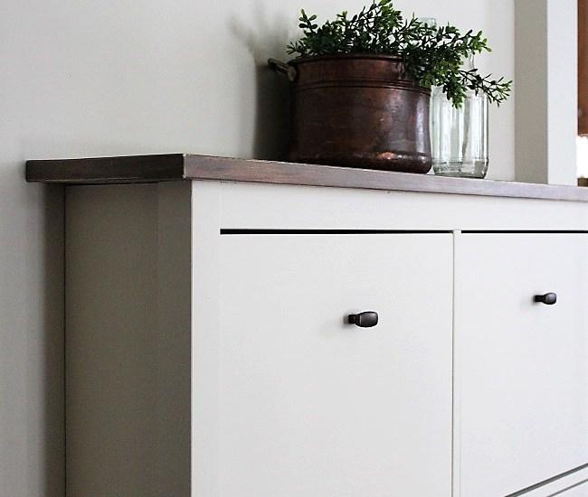 IKEA Shoe Cabinet Hack as Faux Built-in Hallway Storage   stowandtellu