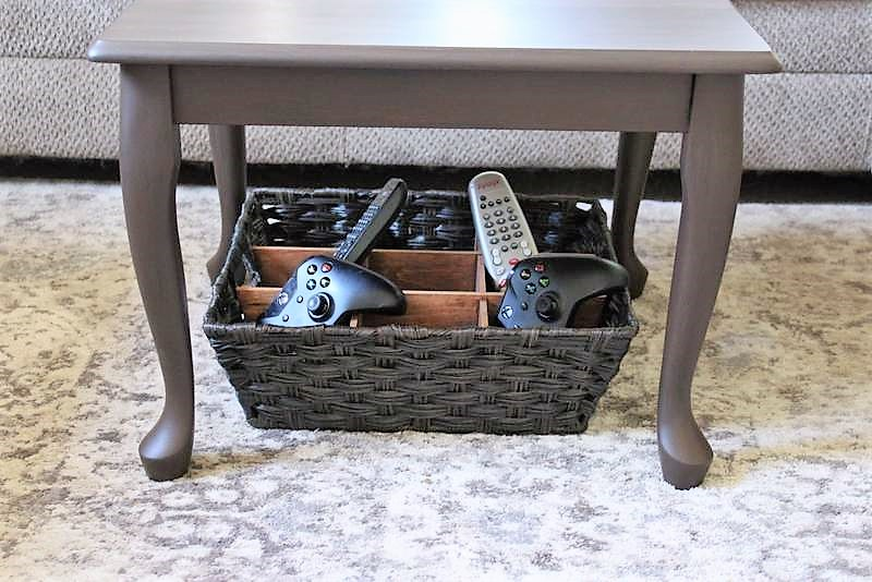 DIY Remote Control Storage Divided Basket   stowandtellu.com