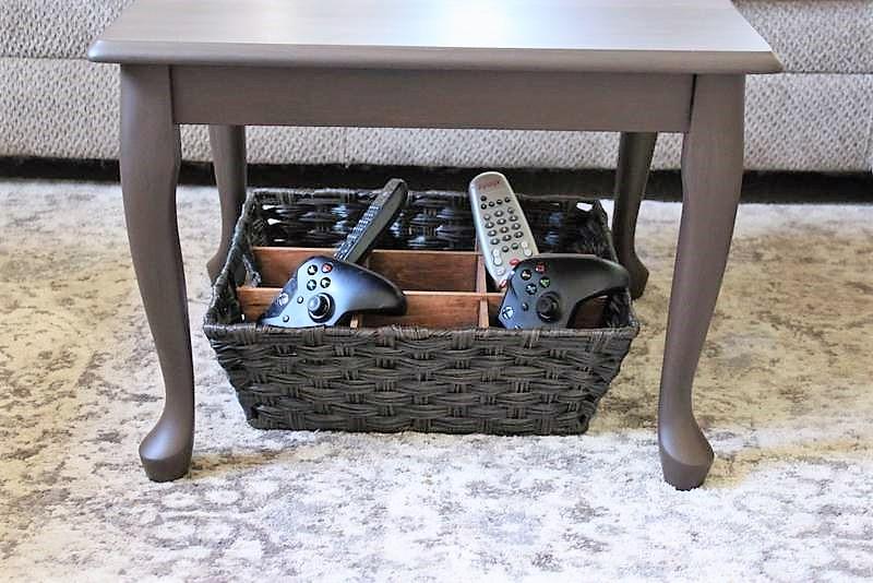 DIY Remote Control Storage Divided Basket | stowandtellu.com