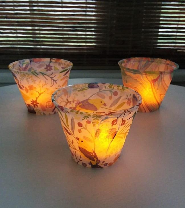 How to make tissue paper lights | Stowandtellu.com
