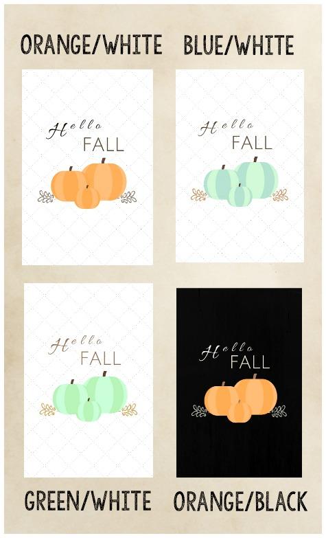 Hello Fall Pumpkin Printable Download collection | stowandtellu.com