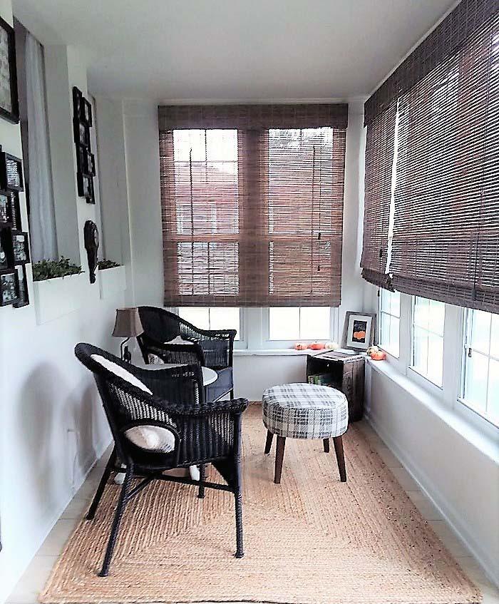 Inexpensive Small Sun Porch Sitting Area Makeover
