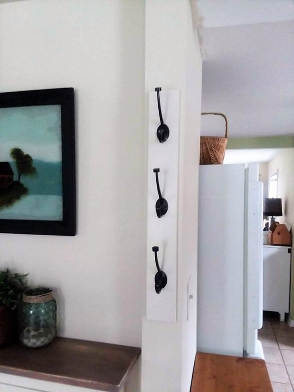 Space Saver Vertical Wall Mounted Hall Tree