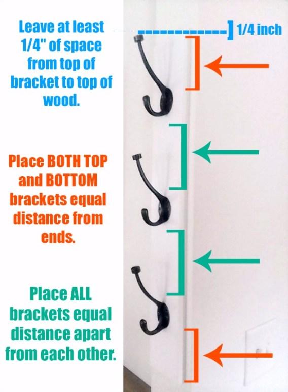 Vertical Wall Mount Coat Rack Measuring Rules