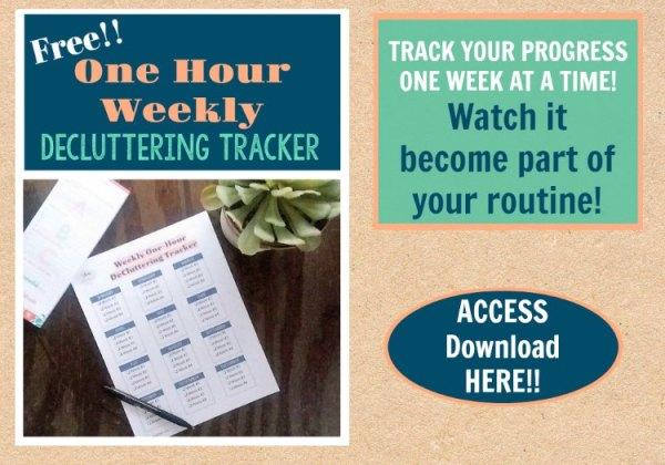 Free Printable Weekly Decluttering Tracker | Stowandtellu.com