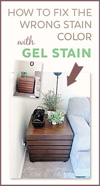 How to Fix the Wrong Stain Color on Wood Furniture with Gel Stain