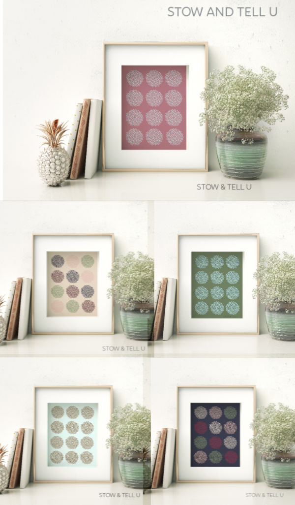 Pink-Purple-Blue-Green-Modern-Floral-Artwork-Free-Printable | Sowandtellu
