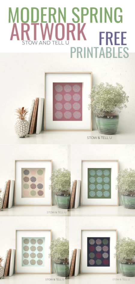 Modern Spring Inspired Artwork Free Printables   Stowandtellu