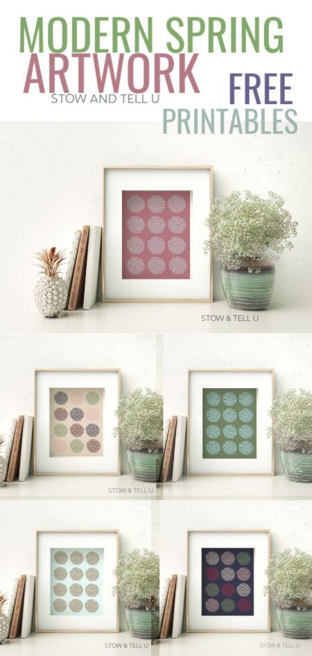Modern Spring Inspired Artwork Free Printables | Stowandtellu