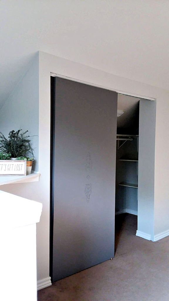 Gauntlet Gray Painted Closet Door