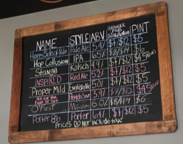 September 16, 2017 - The Line-up at Goodwater Brewing in Williston, Vermont