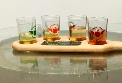 December 9, 2017 - Samples at Stowe Cider in Stowe, Vermont