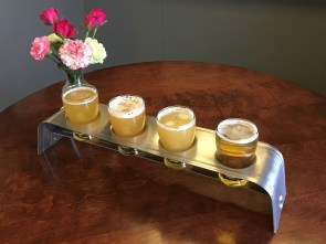 December 16, 2017 - Samples at Exhibit A Brewery in Framingham, Massachusetts