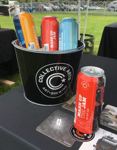 May 19, 2018 - Beers of Collective Arts and Brewing at the Craft Brew Races in Stowe, Vermont