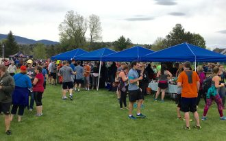 May 19, 2018 - The throng at Stowe Craft Brew Races in Stowe, Vermont
