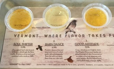 June 2, 2018 - Samples at Cold Hollow Cider Mill in Waterbury, Vermont