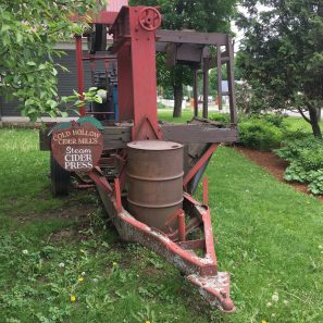 June 2, 2018 - Steam Cider Press at Cold Hollow Cider Mill in Waterbury, Vermont