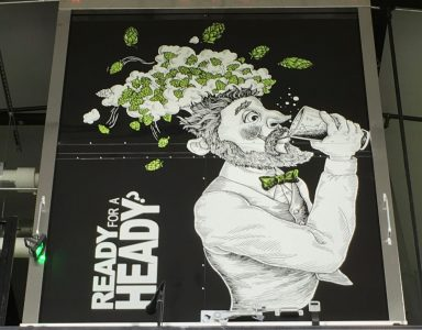 June 23, 2018 - Poster inside of The Alchemist Brewery in Stowe, Vermont
