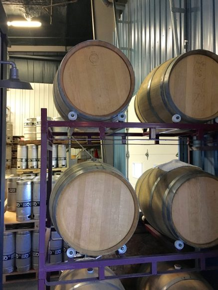 July 3, 2018 - Kegs at Queen City Brewery in Burlington, Vermont