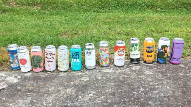 August 25, 2018 - Beer line-up from Stowe Public House and Bottle Shop in Stowe, Vermont