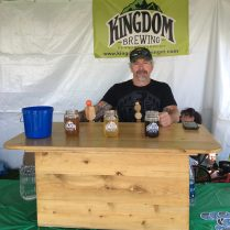 August 4, 2018 - Kingdom Brewing at Stowe Brewers Festival in Stowe, Vermont