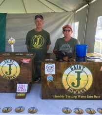 August 4, 2018 - Saint J Brewery at Stowe Brewers Festival in Stowe, Vermont