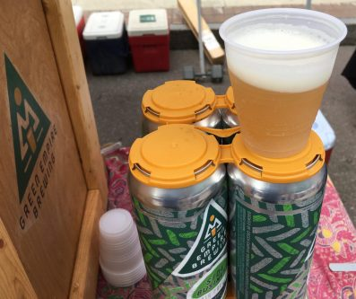 July 28, 2018 - Sample of Side Business IPA at Green Empire Brewing in Colchester, Vermont