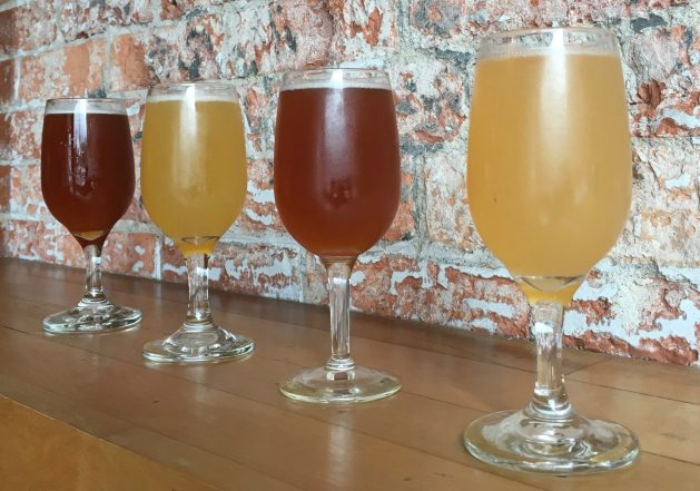 September 2, 2018 - Samples at Good Measure Brewing in Northfield, Vermont