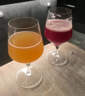 November 1, 2018 - Samples from Trillium Brewing Company in Boston, Massachusetts