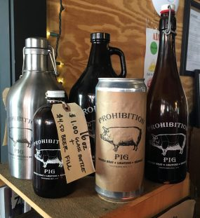 December 8, 2018 - Merch at Prohibition Pig Brewery in Waterbury, Vermont