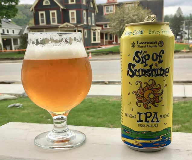 May 24, 2019 - Sip of Sunshine from Lawson's Finest Liquids in Waitsfield, Vermont (picture taken in Stowe, Vermont)