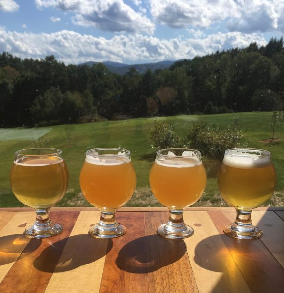 August 30, 2019 - Samples at Bent Hill Brewery in Braintree, Vermont