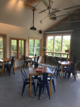 August 30, 2019 - Tap Room at Bent Hill Brewery in Braintree, Vermont