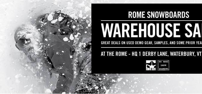 Rome Snowboards Tent Sale