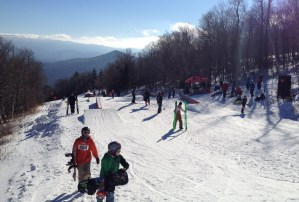 The First Track rail jam kicked off the season Saturday
