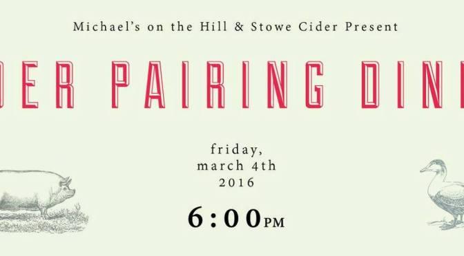 Stowe Cider Pairing Dinner