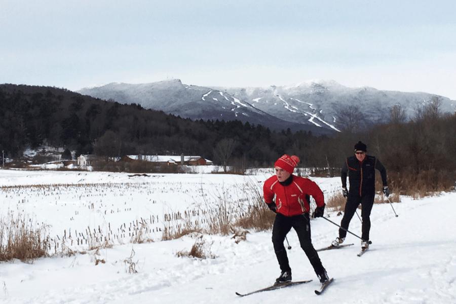 XC ski trails in Stowe Vermont