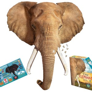 Elephant-Life size animal head puzzle