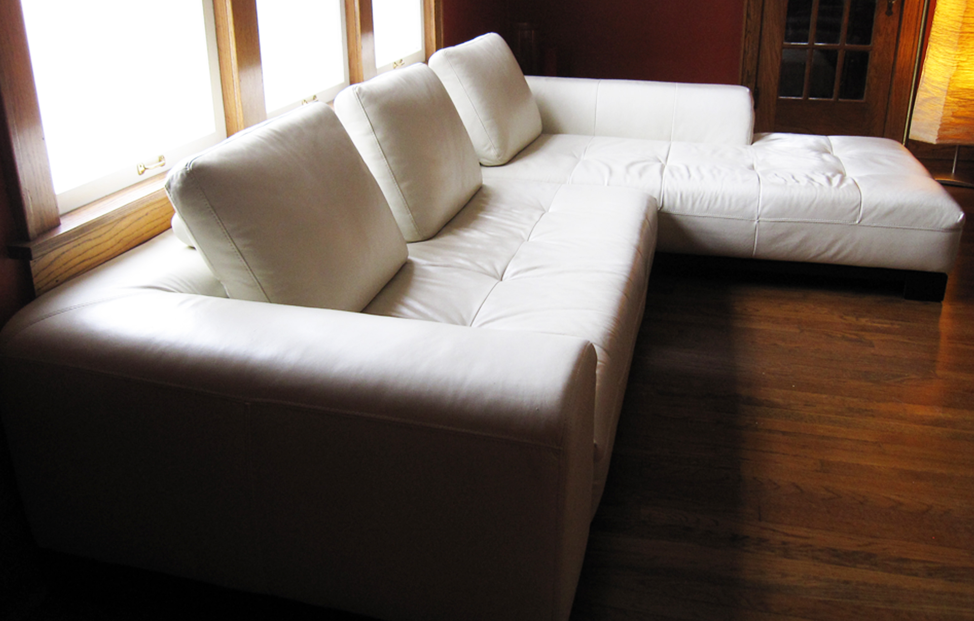 sectional loveseat sofa english roll arm for sale z gallerie white leather | stowhomeforrent