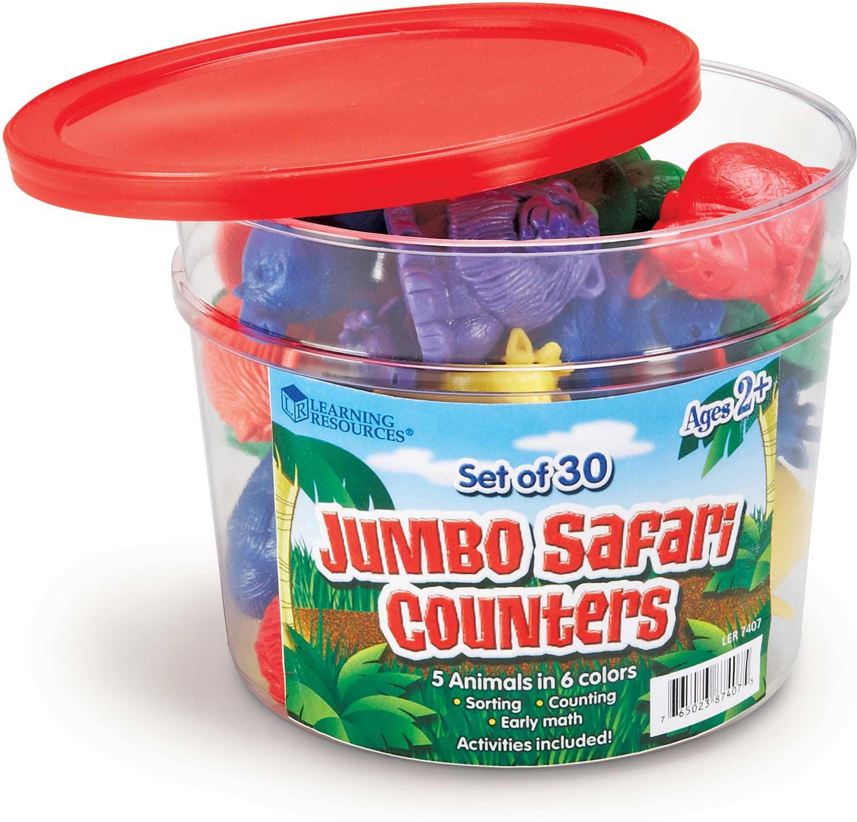 Jumbo Safari Counters Set Of 30