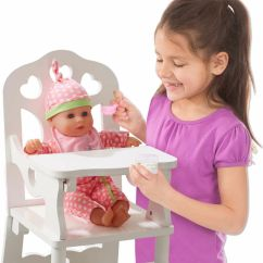 Land Of Nod High Chair Doll Antique Leather Chairs Wooden Kool And Child