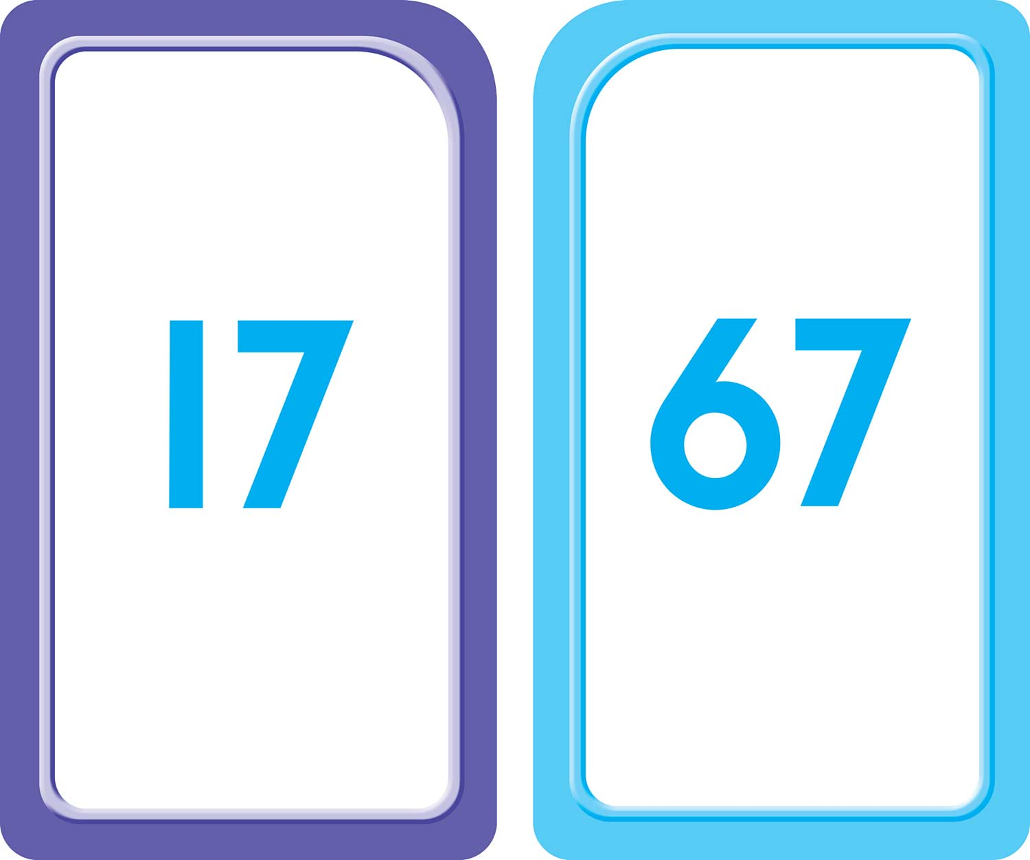 P K Numbers Flash Cards 1 100