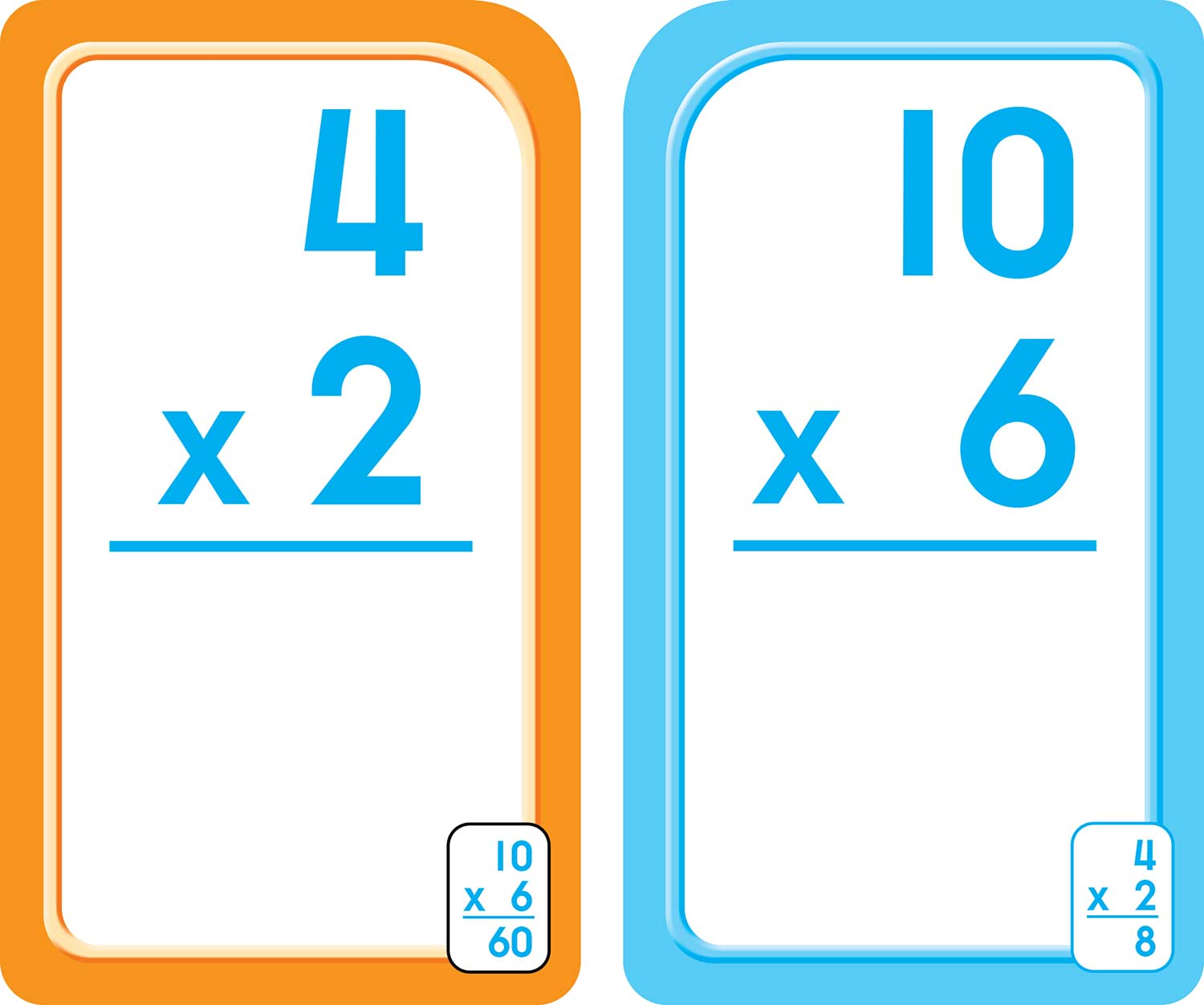 3rd 4th And 5th Grade Multiplication Flash Cards 0 12
