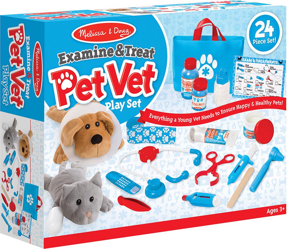 Melissa  Doug Examine  Treat Pet Vet Play Set  Timbuk Toys