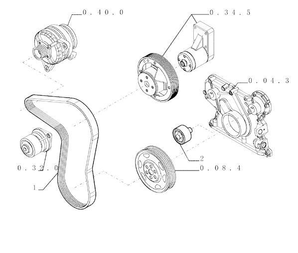Запчасти телескопические погрузчики New Holland LM430