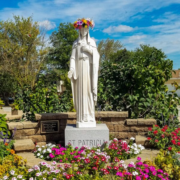 St. Patricia Statue Crowned-2