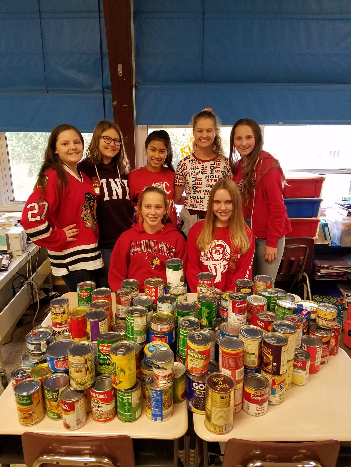 Jr. Honor Society Food Drive