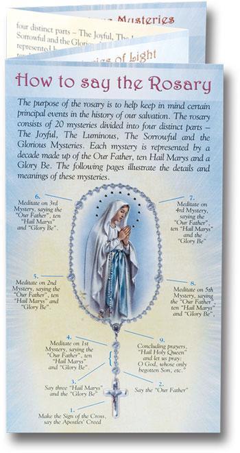 Rosary Bookmarks Print
