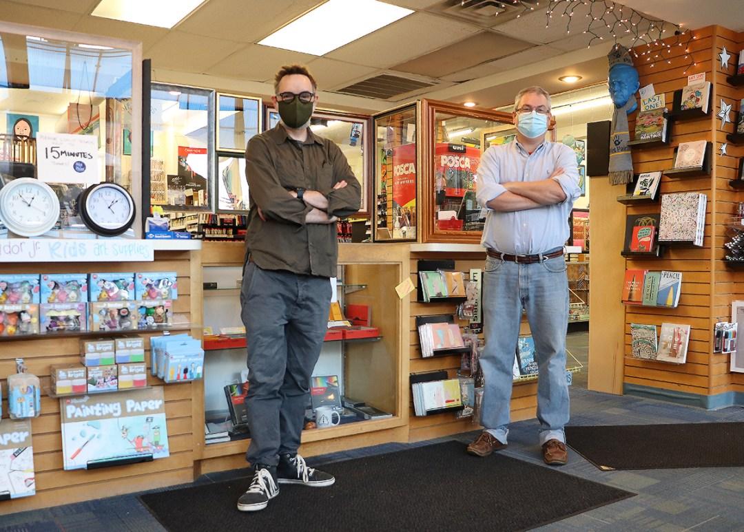Darin Rine and Scott Fares inside Wet Paint