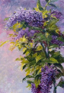 Lilac Branch oil on paper - Tracie Thompson